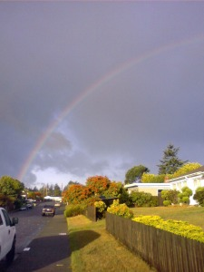 Election day rainbow -- Copyright 2008 Edmund Metheny